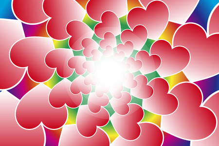eddy: Background material wallpaper, heart pattern, heart, love, love, Valentines day, white, cute, lovely Illustration