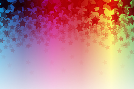 rainbow color star: Background material, Bokashi, blurring, blur, defocus, pale, thin, Stardust, Stardust, glitter, light, sky, starry sky,