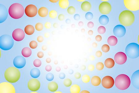 Wallpaper materials, ball, sphere, ball, spiral, spiral, spiral, Rainbow, rainbow color, 7 colors, colorful