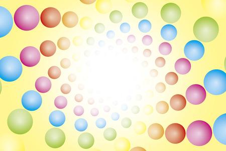 eddy: Wallpaper materials, ball, sphere, ball, spiral, spiral, spiral, Rainbow, rainbow color, 7 colors, colorful