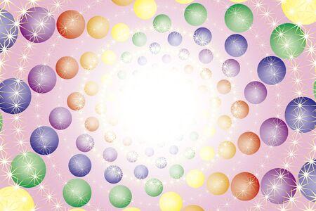 splendor: Wallpaper materials, ball, sphere, ball, spiral, spiral, spiral, Rainbow, rainbow color, 7 colors, colorful