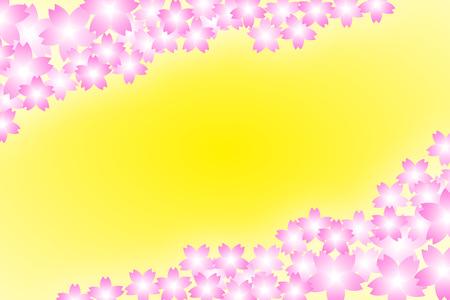 margin: Background material wallpaper, floral, cherry, Cerise, cherry blossom, spring, enrollment, graduation frame, border, margin, 3 months, 4 months,