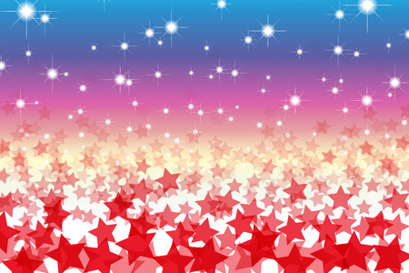 starry sky: Patterned wallpaper material, Star, Stardust, Stardust, starry sky, night sky, glitter, shiny, space, light, bright, fun, Illustration