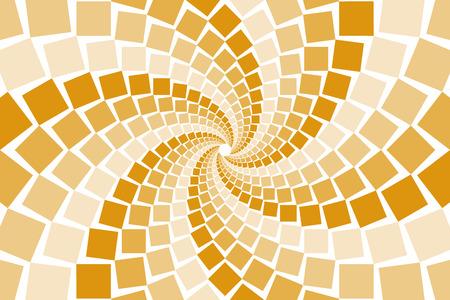 bitter orange: Wallpaper materials, square, square, square, square, swirl, swirls, spiral, spiral, spiral, spiral, spin Illustration