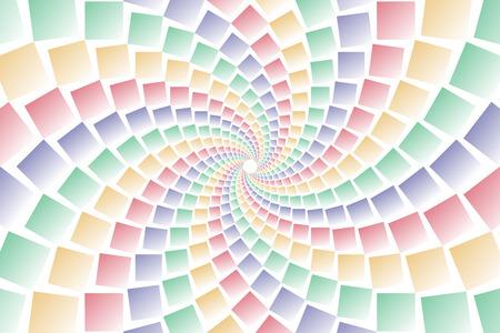 bargaining: Wallpaper materials, square, square, square, square, swirl, swirls, spiral, spiral, spiral, spiral, spin Illustration