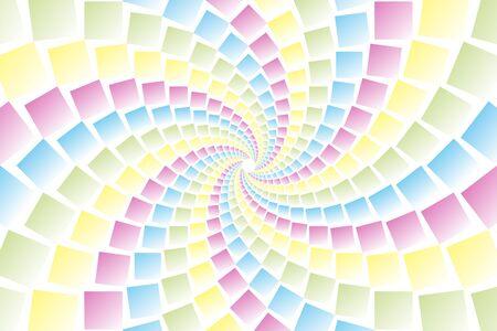 bargain for: Wallpaper materials, square, square, square, square, swirl, swirls, spiral, spiral, spiral, spiral, spin Illustration