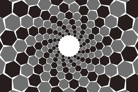 Background material, mosaics, Uzumaki, spiral, spiral, spiral, spiral pattern, spiral, hexagonal, honeycomb, Yen
