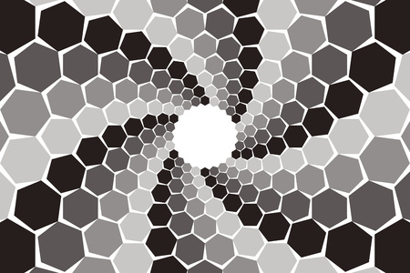 spiral pattern: Background material, mosaics, Uzumaki, spiral, spiral, spiral, spiral pattern, spiral, hexagonal, honeycomb, Yen
