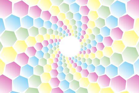 hilt: Background material, mosaics, Uzumaki, spiral, spiral, spiral, spiral pattern, spiral, hexagonal, honeycomb, Yen