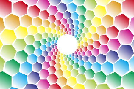 green swirl: Background material, mosaics, Uzumaki, spiral, spiral, spiral, spiral pattern, spiral, hexagonal, honeycomb, Yen
