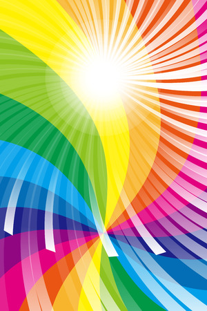 eddy: Wallpaper material, Rainbow, rainbow color, colors, colorful, radiation, party, light, shine, cute, fun Illustration