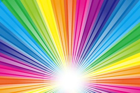 Wallpaper material, Rainbow, rainbow color, colors, colorful, radiation, party, light, shine, cute, fun Ilustração