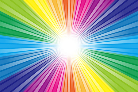 Wallpaper material, Rainbow, rainbow color, colors, colorful, radiation, party, light, shine, cute, fun Vectores