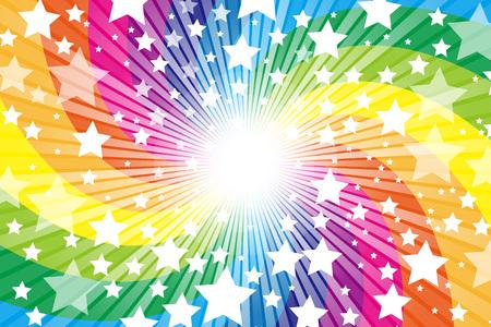 Arco iris, arco iris, lindo, modelo de material de papel pintado, estrella, estrella, Stardust, Stardust, cielo estrellado, brillo, brillar una luz,
