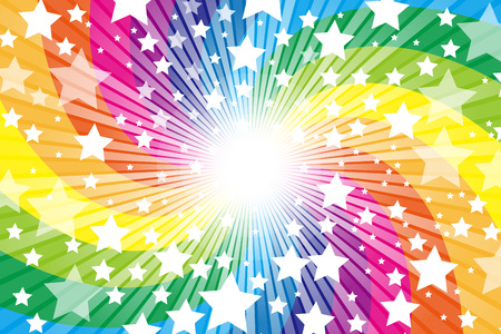 Regenbogen, Regenbogen, niedlich, Muster der Tapete Material, Stern, Stern, Stardust, Stardust, Sternenhimmel, Glitter, Glanz ein Licht,