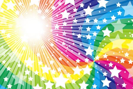 무지개, 무지개, 귀여운, 벽지 소재의 패턴, 스타, 스타, 스타 더스트, 스타 더스트, 별이 빛나는 하늘, 반짝이, 빛을 비추다, 일러스트