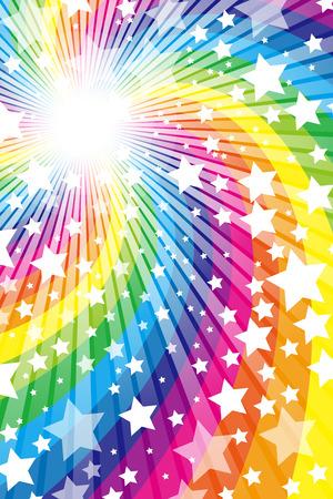starry sky: Rainbow, Rainbow, cute, pattern of wallpaper material, Star, Star, Stardust, Stardust, starry sky, glitter, shine a light,