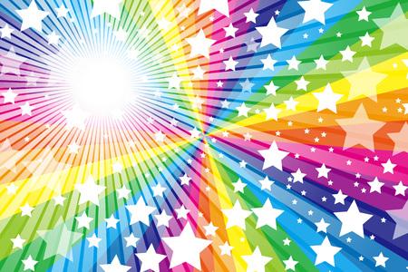 Arc en ciel, arc, mignon, motif de matériau de papier peint, Star, Star, Stardust, Stardust, ciel étoilé, scintillement, briller une lumière, Banque d'images - 56812649