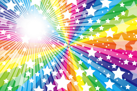 Rainbow, Rainbow, cute, pattern of wallpaper material, Star, Star, Stardust, Stardust, starry sky, glitter, shine a light,