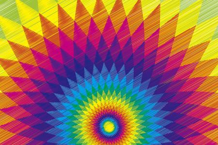 Achtergrond materiaal behang, Rainbow, Rainbow, kleurrijk, etnisch, Latijn, passie, hartstocht, zon, licht, de zomer, Vector Illustratie