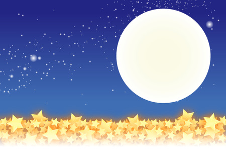 stardust: Patterned wallpaper material, Star, Stardust, Stardust, Galaxy, night sky, milky way, milky way, glitter, moon, Moonlight, night, Illustration