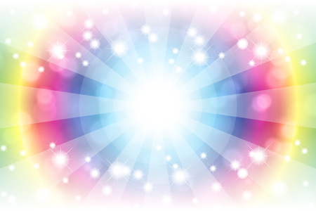 Background material wallpaper, bright, light, glitter, Stardust, Stardust, blur, blur, pale, soft, or central line, radial, Stock Illustratie
