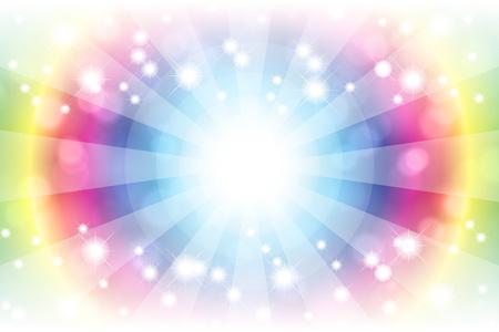 Background material wallpaper, bright, light, glitter, Stardust, Stardust, blur, blur, pale, soft, or central line, radial, Illustration