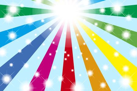 Background material wallpaper, Rainbow, Rainbow, light, bright, party, event, happy, colourful, fun, happy, happy Ilustração