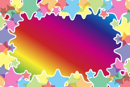 Background material, Star, Stardust, glitter, light, Rainbow, Rainbow, colorful, copy space, text space