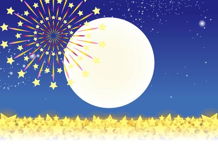 Wallpaper materials, summer festivals, Fireworks, night sky, StarMine, light, shine, sparkle, milky way, tradition, traditions
