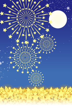 tradition: Wallpaper materials, summer festivals, Fireworks, night sky, StarMine, light, shine, sparkle, milky way, tradition, traditions