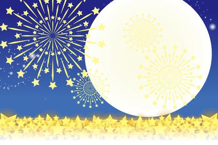 Wallpaper materials, summer festivals, Fireworks, night sky, StarMine, light, shine, sparkle, milky way, tradition, traditions