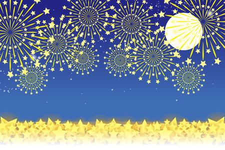 midsummer: Wallpaper materials, summer festivals, Fireworks, night sky, StarMine, light, shine, sparkle, milky way, tradition, traditions