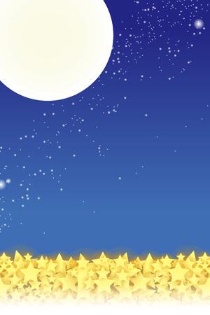 materiales de papel tapiz, cielo estrellado, Stardust, Stardust, cielo nocturno, vía láctea, vía láctea, luna, luz, galaxia, brillo, brillo, luna llena Ilustración de vector