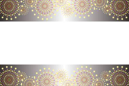 midsummer: Background material wallpaper, Fireworks, summer festival, StarMine, Fireworks, night sky, Japanese-style, message, copy space,