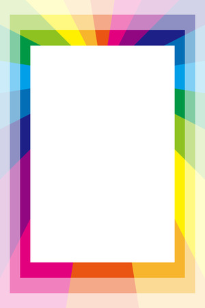 warning back: Background material wallpaper, photo frame, photo frame, Rainbow, rainbow color, copy space, colourful, fun, tags