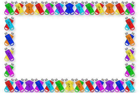 Background material wallpaper, USB flash drive, Flash Media, PC material, Rainbow, rainbow color, frame, frames,