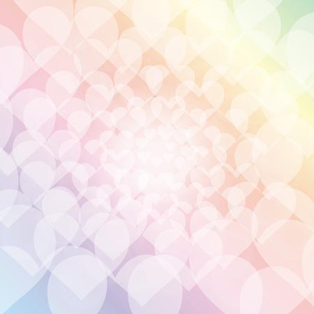 Fond d'écran matériel, motif de coeur, l'amour, la clarté, des couleurs pastel, symboles, coloré, flou, lumière, modèle