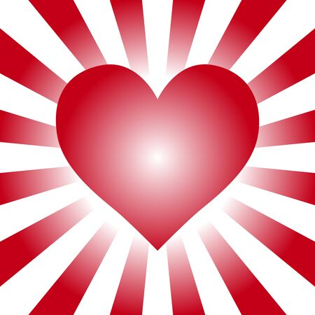 Background material wallpaper, heart, heart pattern, heart shape, Valentines day, white, LOVE, love, love Illustration