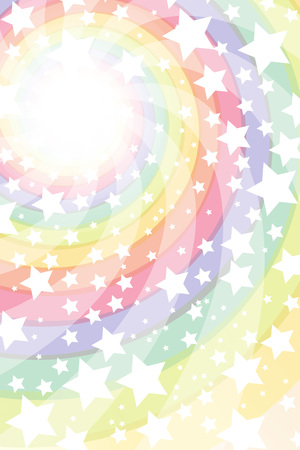 Background material wallpaper, Roly, intensive line, light, bright, spiral, Rainbow, Rainbow, radial, Stardust, Stardust, milky way Illustration