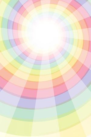 Radial spiral, Rainbow, Rainbow, colorful, spiral, Central line, Flash, sparkle