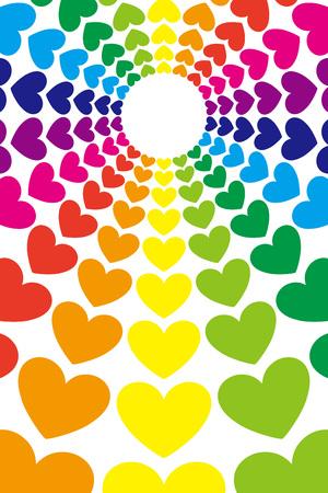 背景素材壁紙 ハート柄 ハート型 中央線 ラジアル 愛 愛 幸福 幸せ 明るい画像 愛 のイラスト素材 ベクタ Image 7277