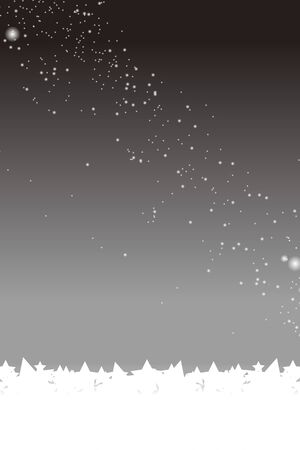 starry night: In background material wallpaper, night scene, night sky, milky way, milky way, glitter, fall, harvest moon, full moon, moon, Moonlight, autumn moon, moonlight. Illustration
