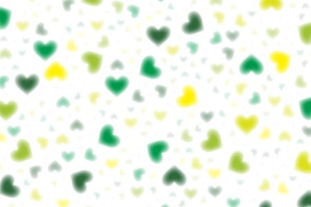 Wallpaper material, heart, patterns, pattern, pattern, heart-shaped, love, affection, Pastel-colored, cute, blur Illustration