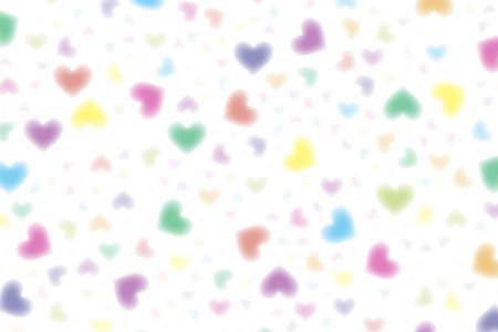 Wallpaper material, symbol, pattern, patterns, iridescent, rainbow color, love, pastel, feathering cute, Illustration