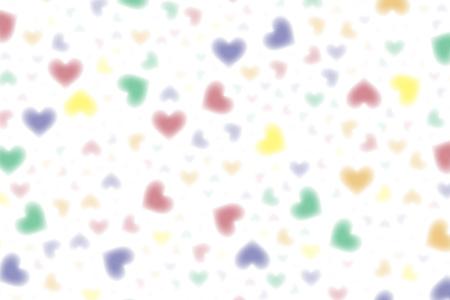 Wallpaper material, symbol, pattern, patterns, iridescent, rainbow color, love, pastel, feathering cute, Çizim