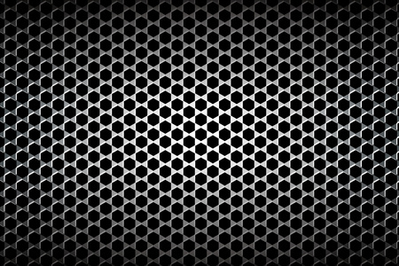 silvery: Wallpaper material, wire mesh, wire netting, stitches, metal fence, checkered, steel, hexagonal, metal, hole machining. Illustration