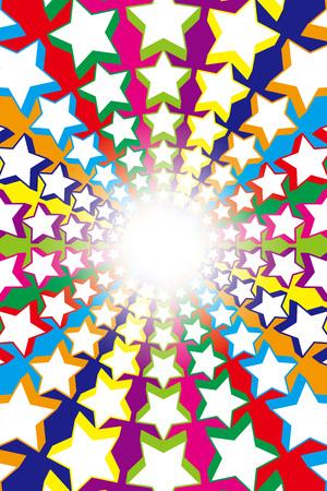 Wallpaper materials, Fireworks, StarMine, Rainbow, Rainbow, dust, glitter, light, Stardust, intensive line, radial