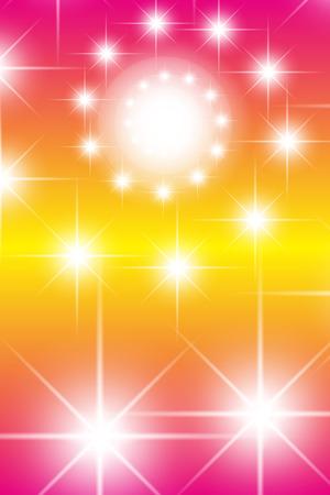 starry night: Background material, light, sparkle, glitter, swirl, spiral, spiral, colorful, material, vertical, vertical, Stardust, Star Illustration