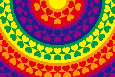 rainbow abstract: Wallpaper material, symbol, pattern, pattern, patterns, heart-shaped, heart-shaped, romance, couple, love, affection, material
